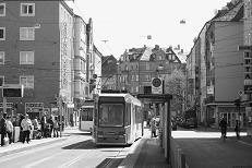 Tram stop Landgrabenstrasse,  2010
